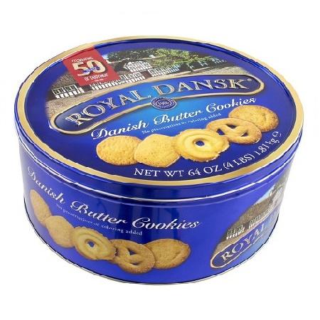 Biscotti Danesi Al Burro Scatola Latta Gr. 454