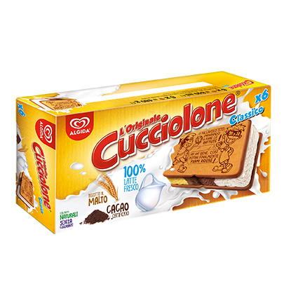 Cucciolone Gelato Con Biscotto X 6 Algida Gr. 480